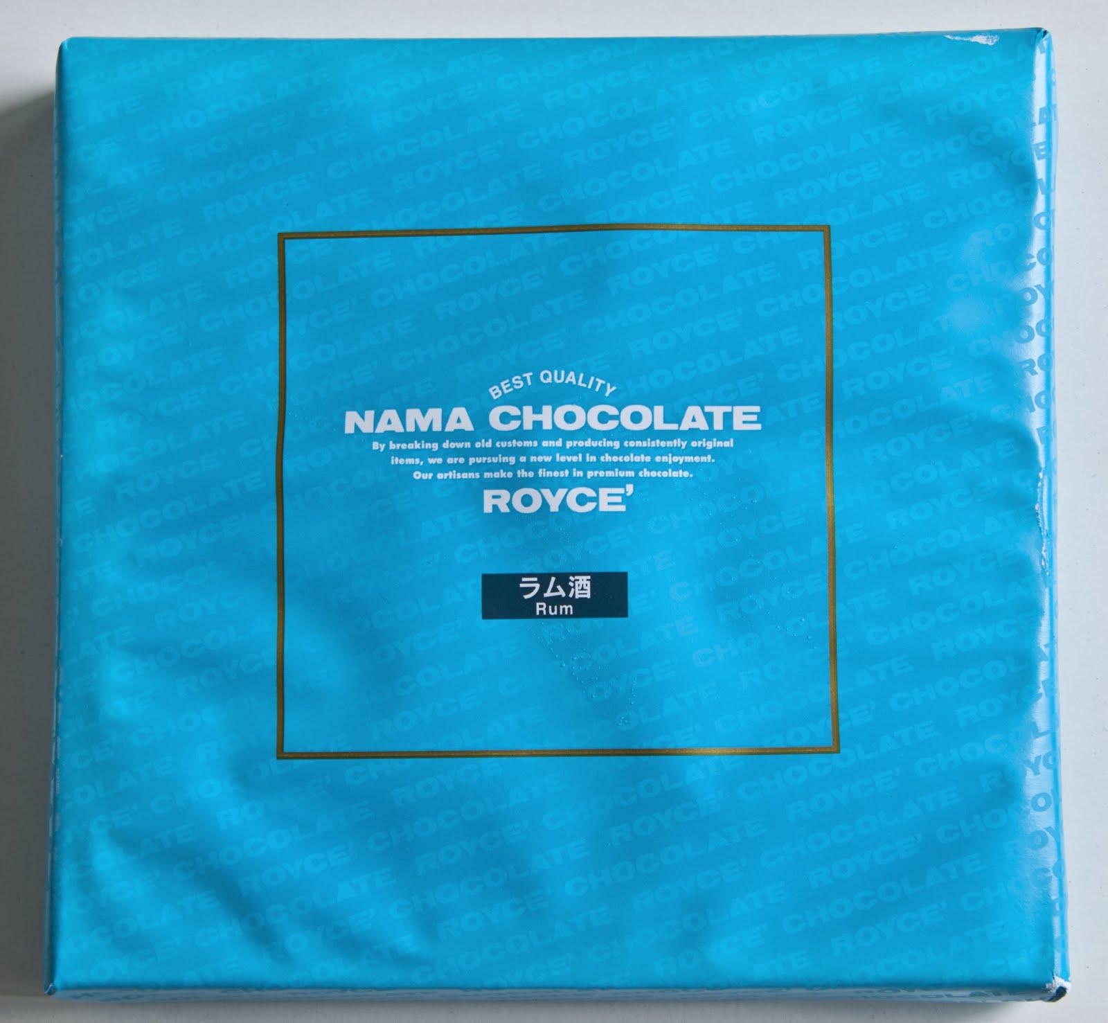 Royce Nama Chocolate - Rum   Journey through Life