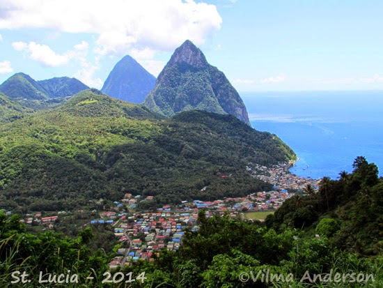 View of the Pitons - Saint Lucia
