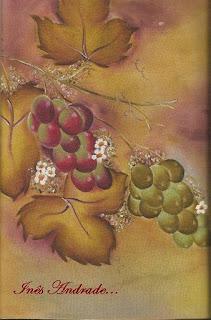pintura de uvas em emborrachado