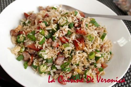 La Cuisine De Veronica 叉燒秋葵蛋炒飯