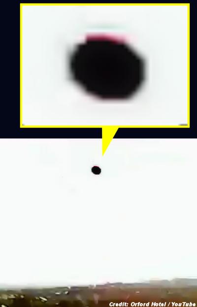 UFO Filmed Over The Orford Hotel?