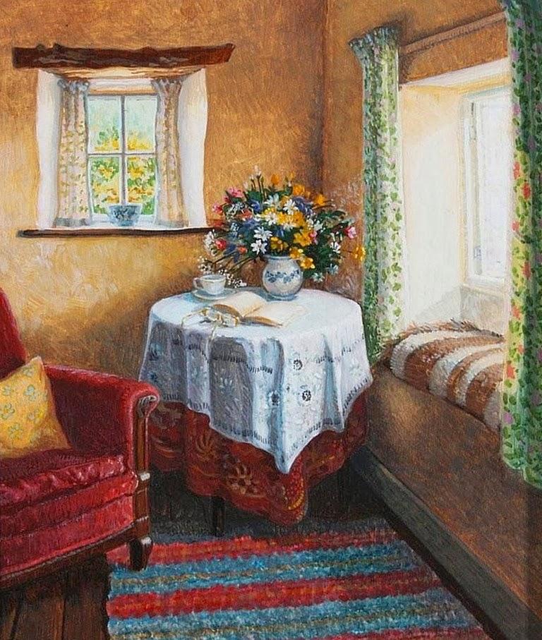 Arte pinturas leo pinturas interiores de casas obras de - Cuadros de interiores ...
