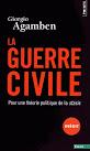 """Giorgio AGAMBEN """"La guerre civile"""", Éditions du Seuil, 2015"""