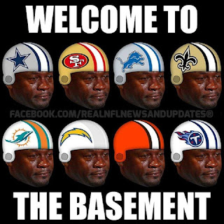 #Cowboys #49ers #Lions #Saints #Dolphins #Browns #Titans.- welcome to the basement