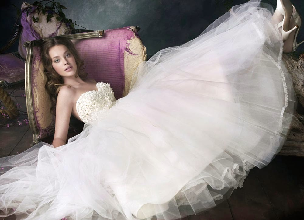 Couture Ball Gown Wedding Dresses without Sleeves 2014 Design pictures hd