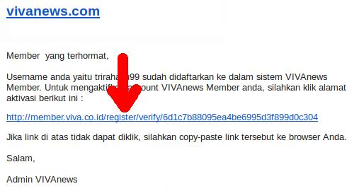 isi email konfirmasi registrasi vivalog