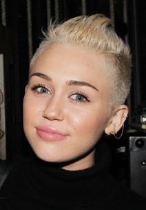 Miley Cyrus rapada