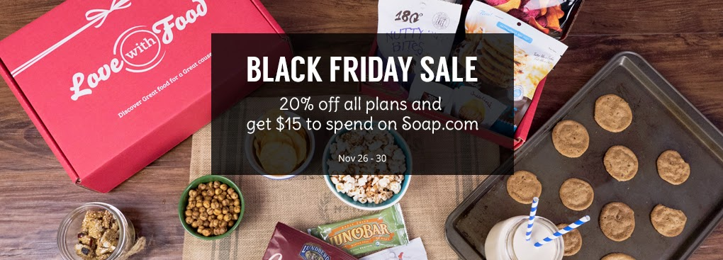 Love with Food Black Friday Sale Subscription Box