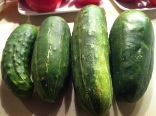 Cut up some cucumbers