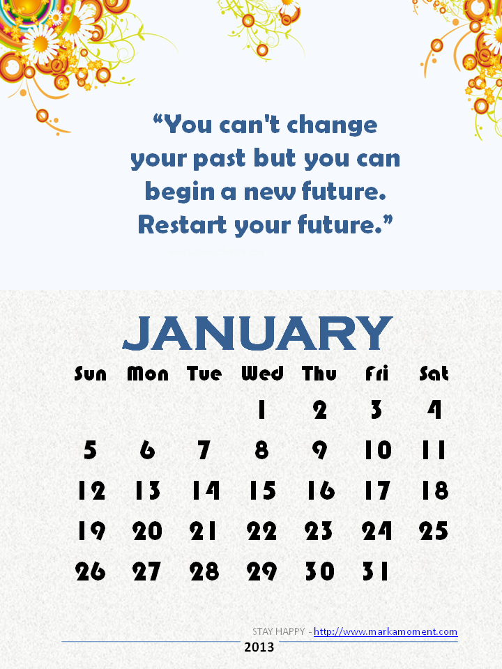 Yearly Quotes Calendar 2014