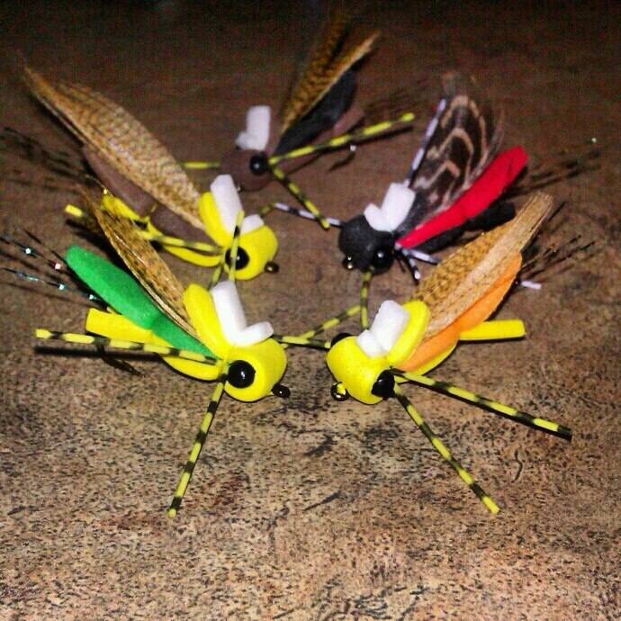 Buggin 39 out free flies anyone warm water fly fishing for Fly fishing flies for bass
