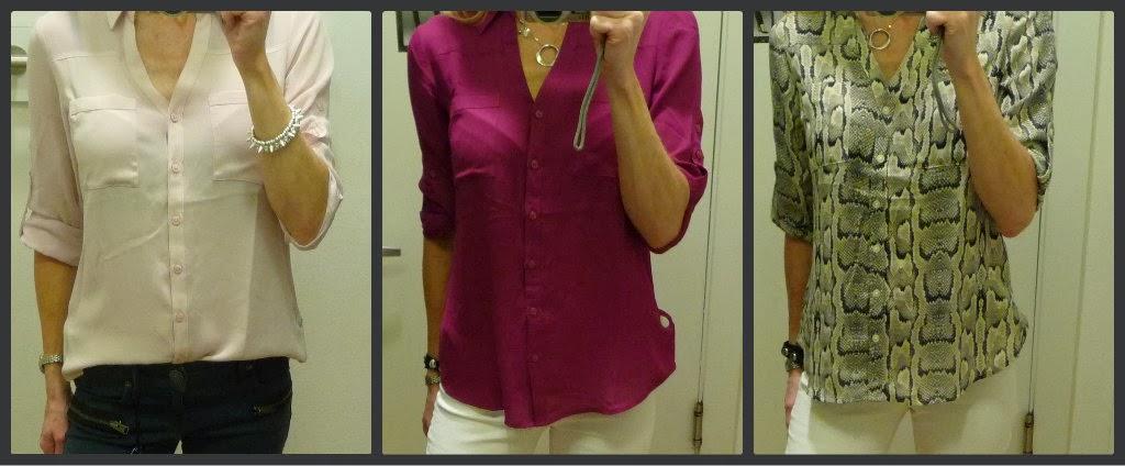 Express portofino convertible sleeve shirt