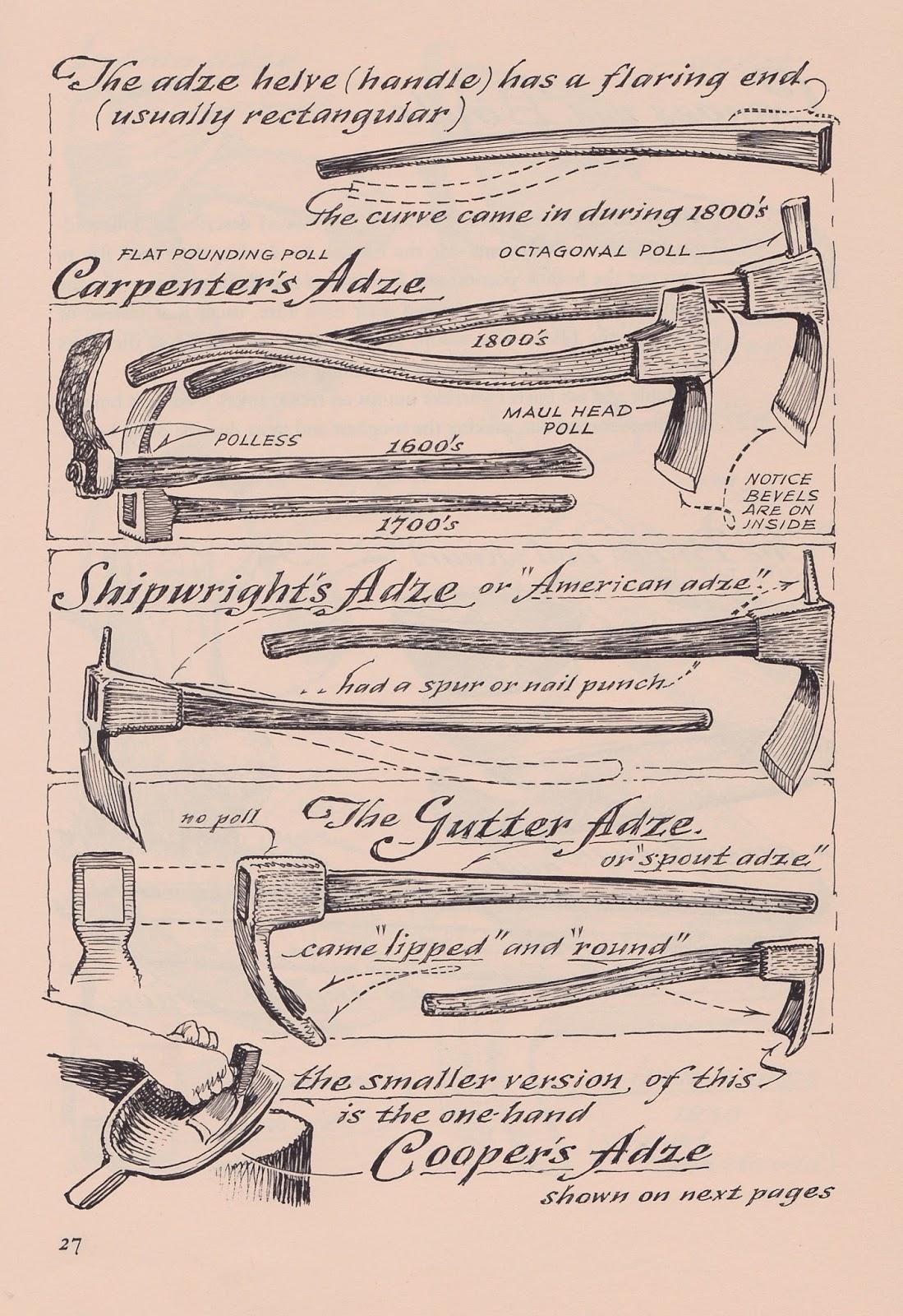 carpenters adze. the adze carpenters