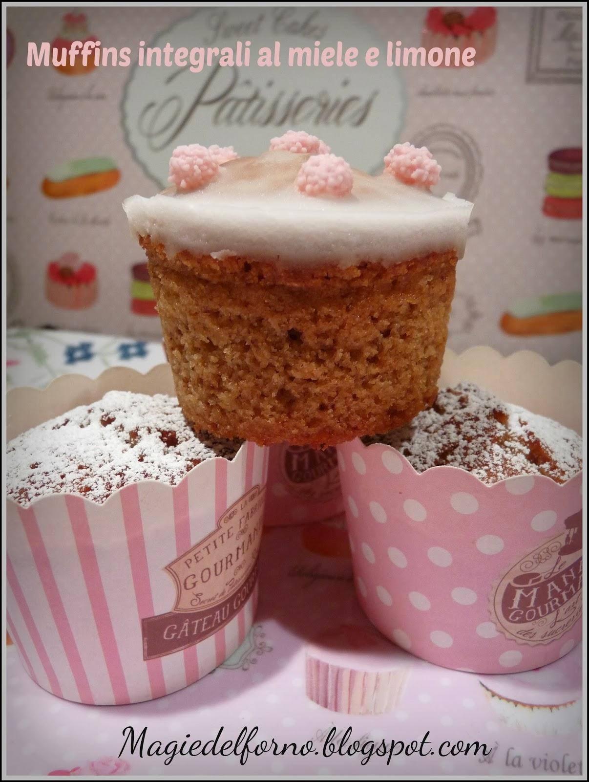 muffins integrali al miele e limone
