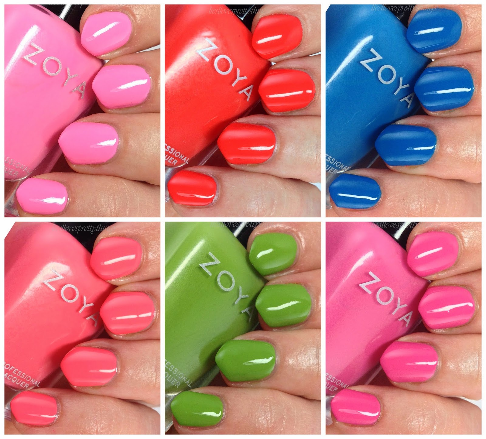 Zoya Tickled Collection Summer 2014 swatches and review