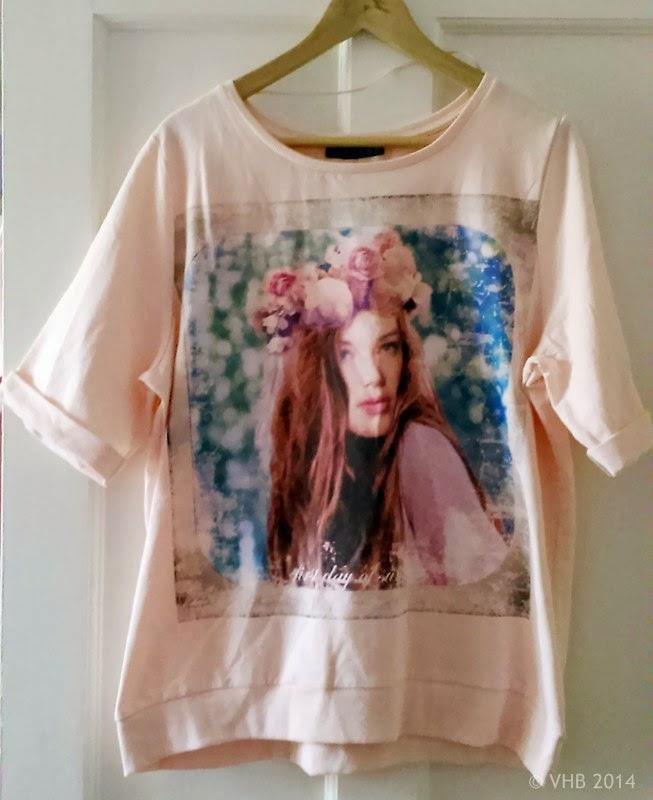Girl Print Short Sleeve Sweatshirt - Size 18 - Primark
