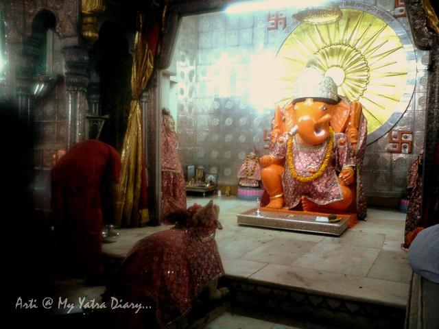 The deity of Lord Ganesh at Moti Dungri Temple, Ganesh Temple, Jaipur, Rajasthan
