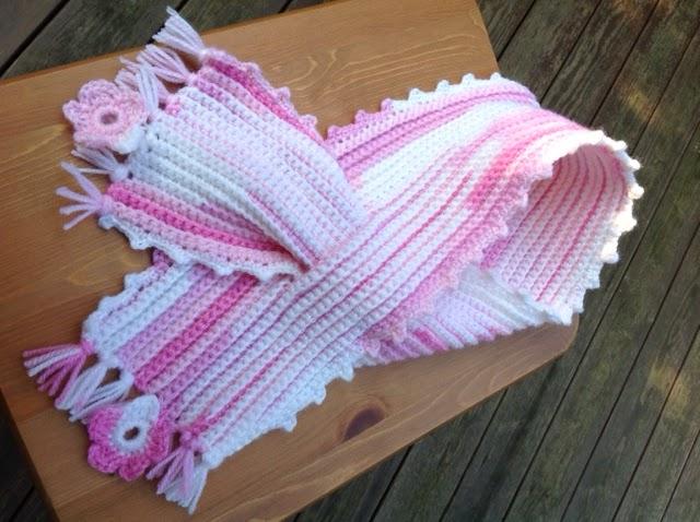 Oyas World Crochet Knitting Crochet Scarf For A Baby Girl