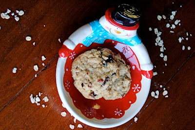 Cherry Walnut Oatmeal Cookies