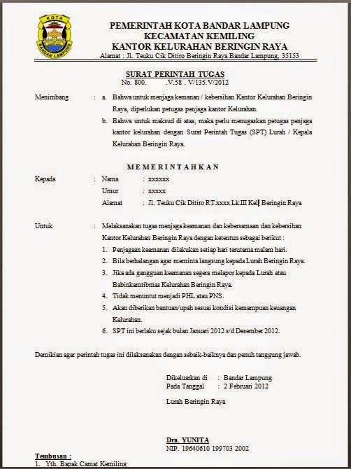 Pengertian Dan Contoh Surat Resmi 2019 Januari 2019 Pendaftaran