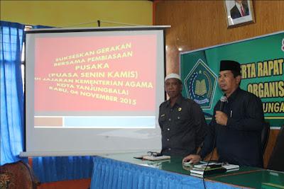 Launching Gerakan PUSAKA di Kemenag Tanjungbalai