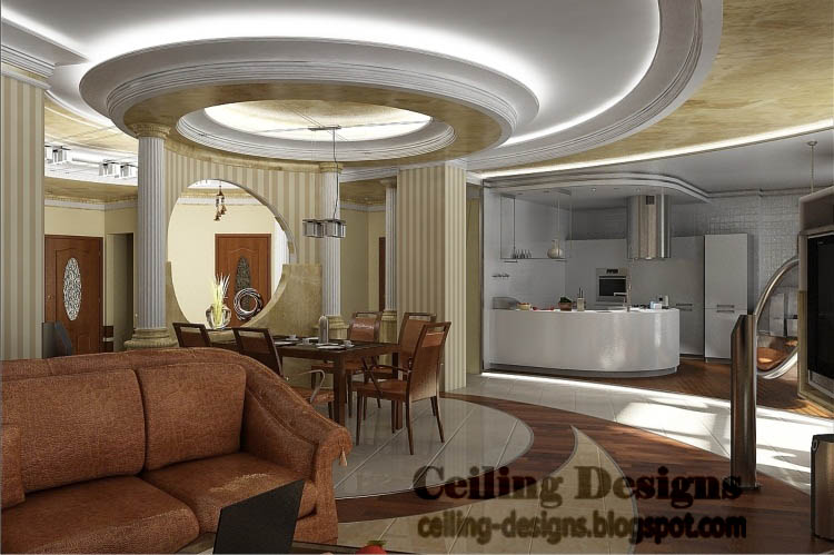 fall ceiling designs for living room from gypsum with glass tray