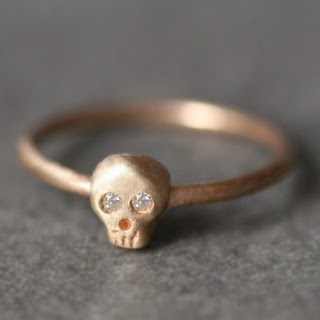 Etsy Gold Skull Ring by Michelle Chang