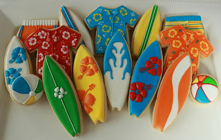 surf-themed cookies