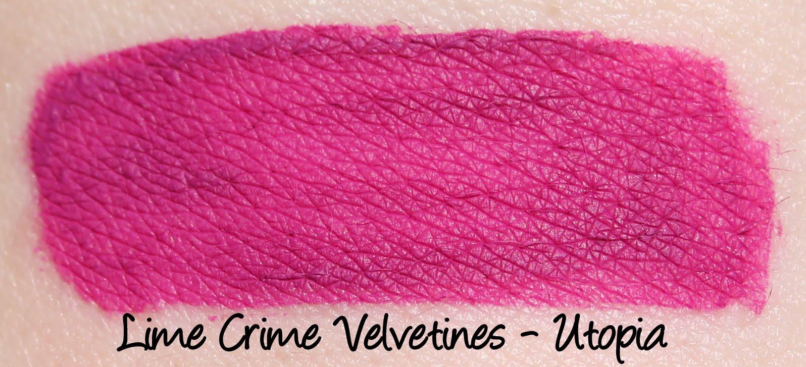 Lime Crime Velvetine - Utopia Swatch