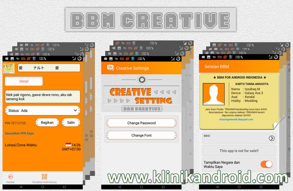 bbm creative mod plus v2.7.0.23 klinikandroid.com