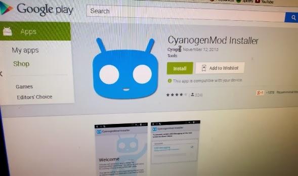CyanogenMod di Play Store