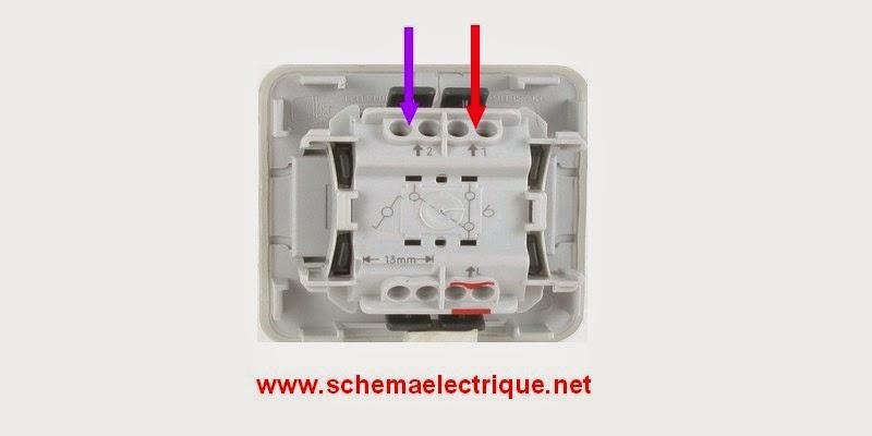 Schema electrique branchement cablage - Branchement interrupteur va et vient en simple allumage ...