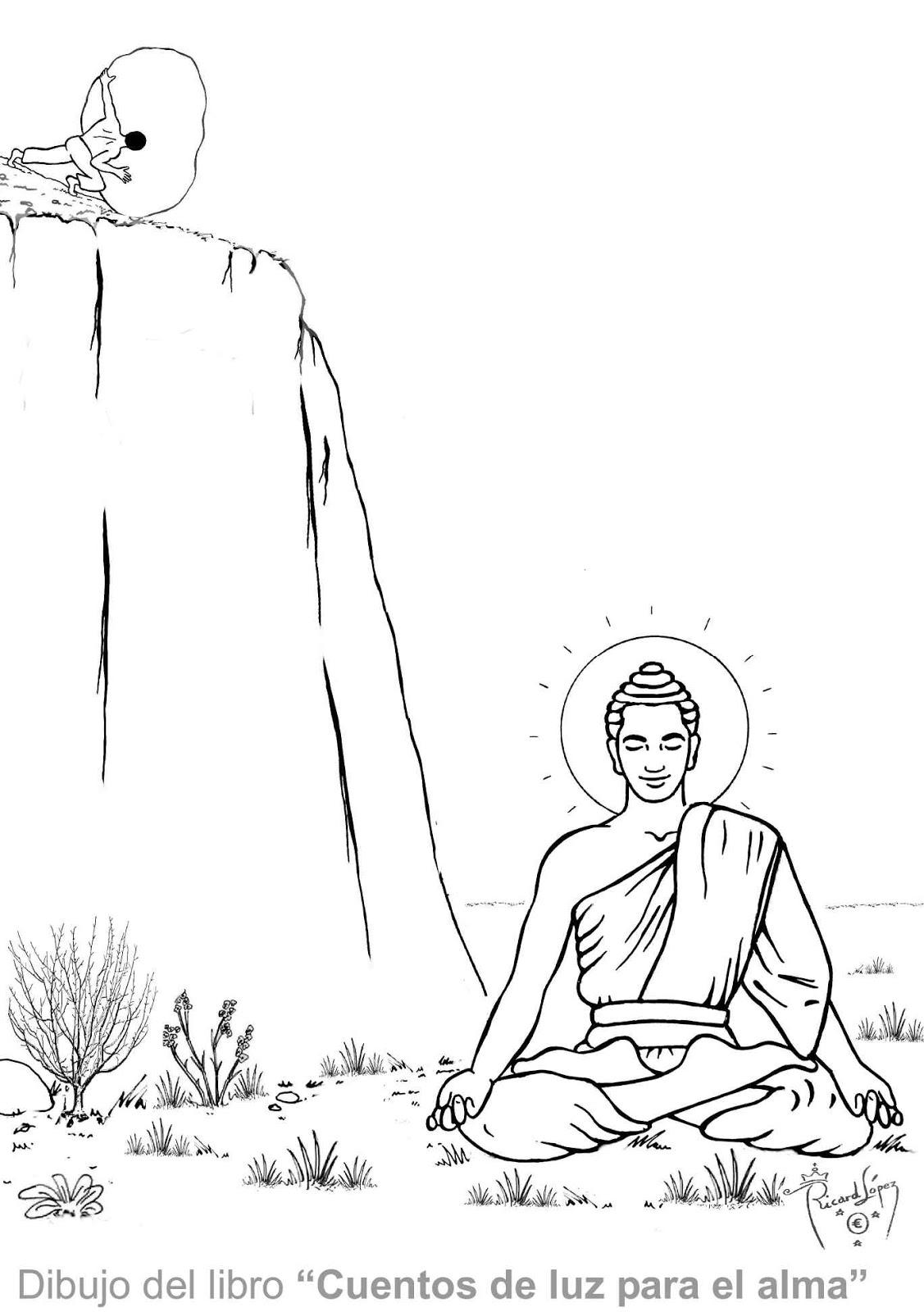 Dibujos muy originales para colorear de Ricard López: Dibujo de Buda ...