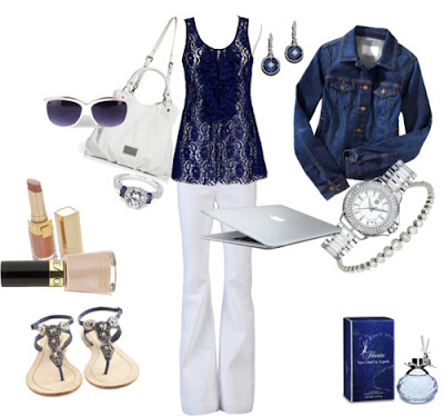 Navy and White Beach Fashion