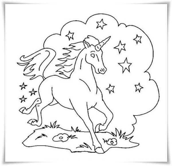 Einhorn und Pegasus Ausmalbilder für Kinder - Einhorn Pegasus Ausmalbilder