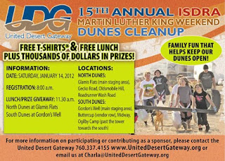 15th annual dunes cleanup at the Imperial Sand Dunes Recreation Area
