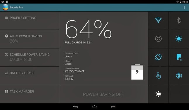 Bataria Pro - Battery Saver android apk - Screenshoot