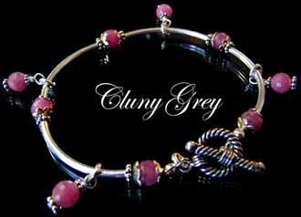 ruby bangle bracelet