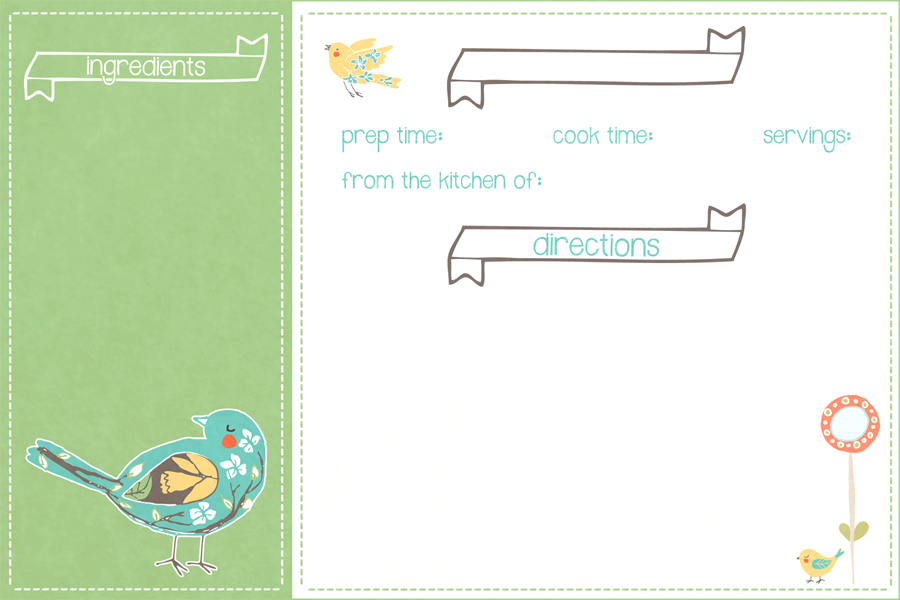 free spring time recipe card printable for you the cottage market
