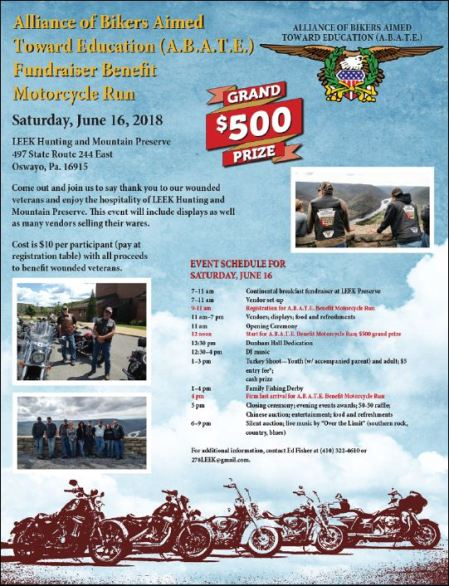 6-16 Abate Fundraiser Motorcycle Run