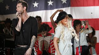 Adam-Levine-Christina-Aguilera-HD Image