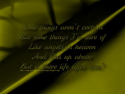 Is There Life After Love? - Shania Twain Song Lyric Quote in Text Image