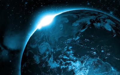 Foto de la tierra desde el espacio