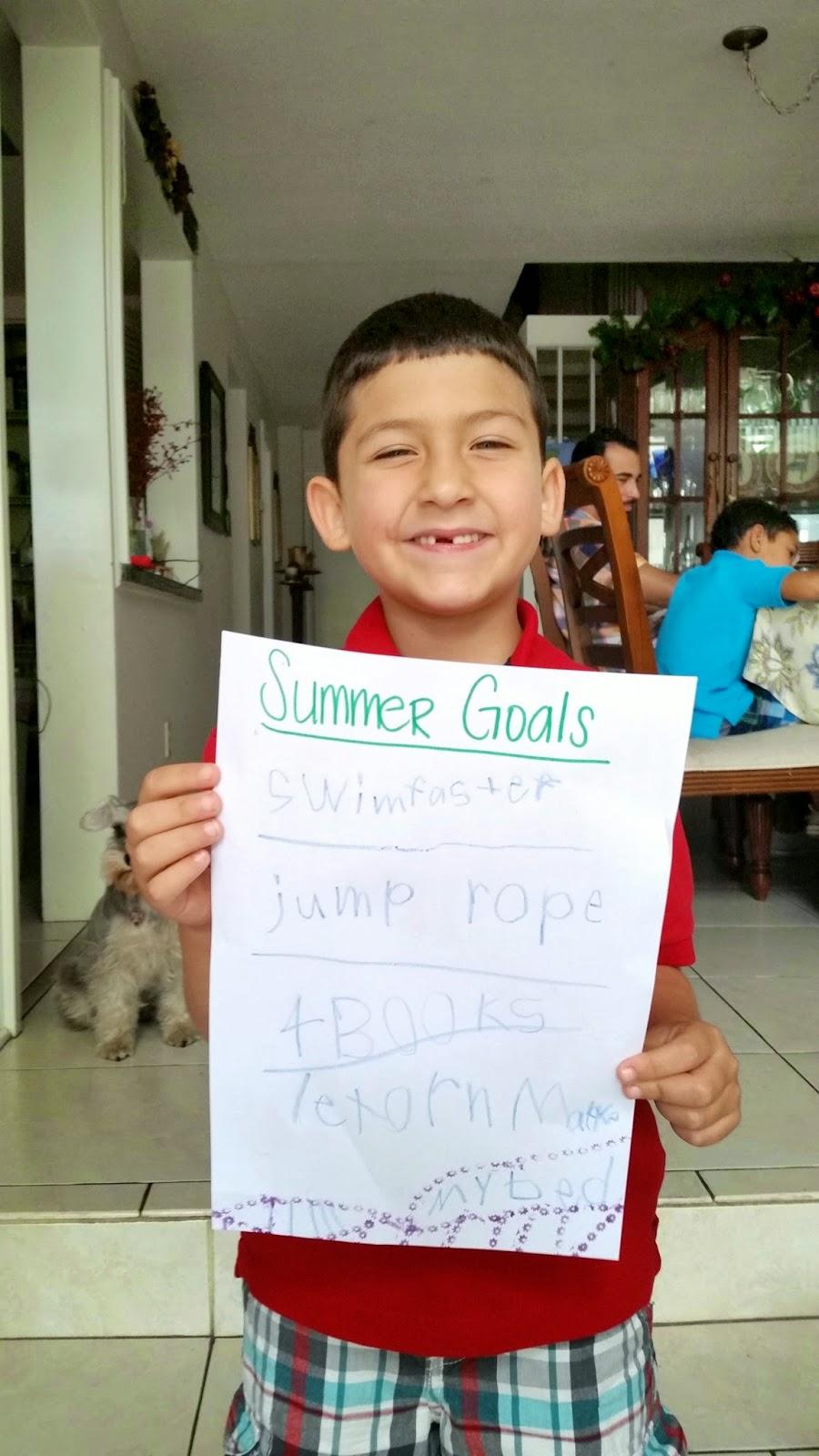 Gian's 2014 Summer Goals