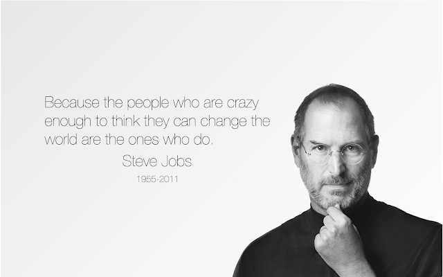 Steve Jobs Motivational Inspirational Quote Wallpaper for job and career success