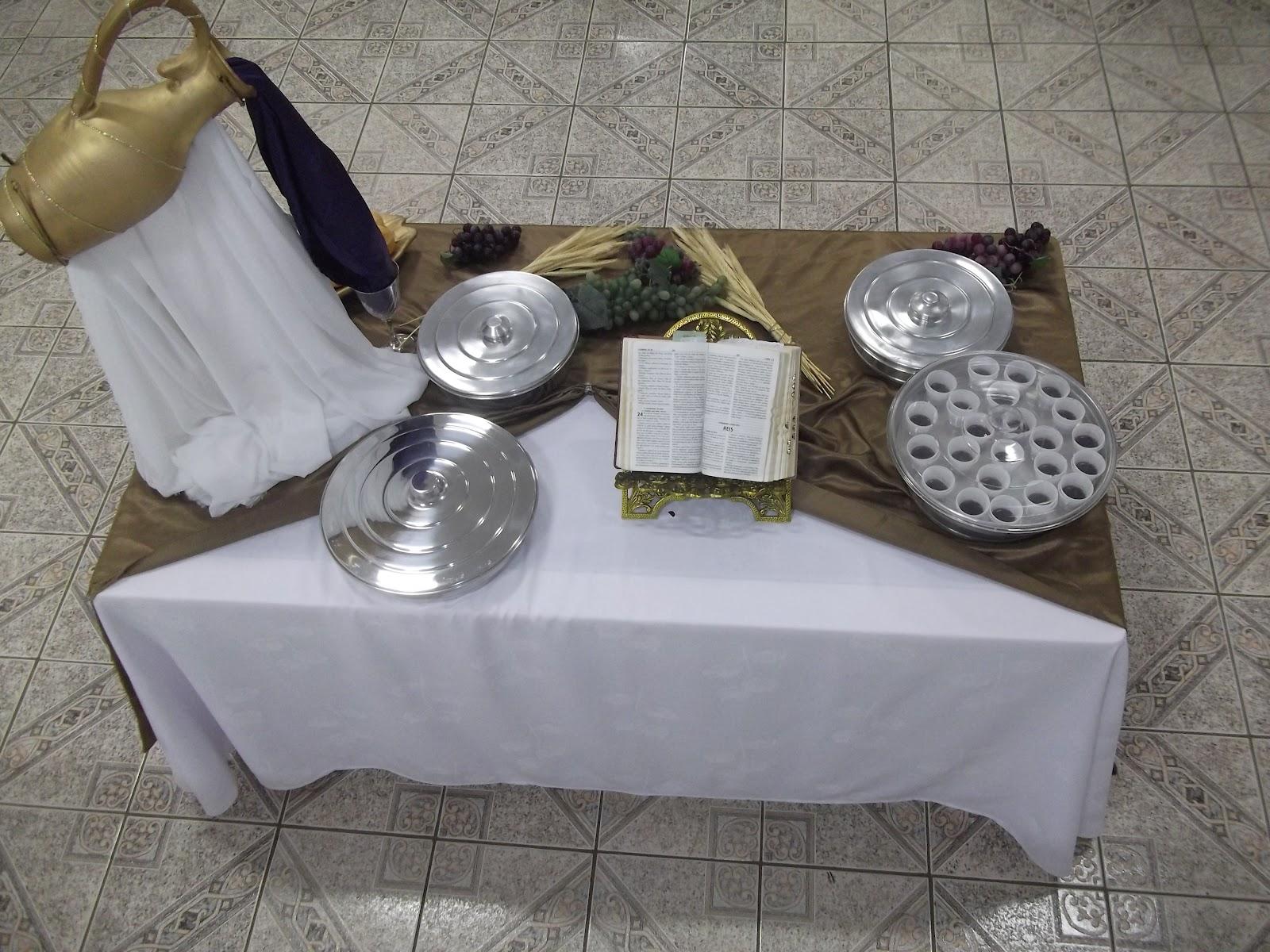 Decora o mesa de santa ceia 4 igreja quadrangular de - Mesas decorativas ...