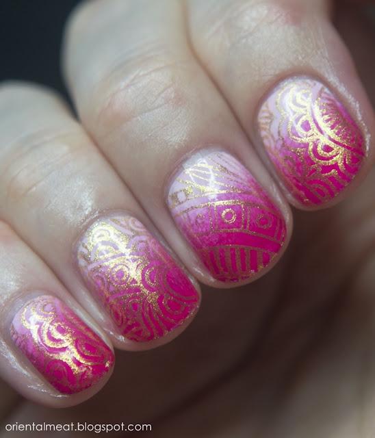 nail stamping nail art
