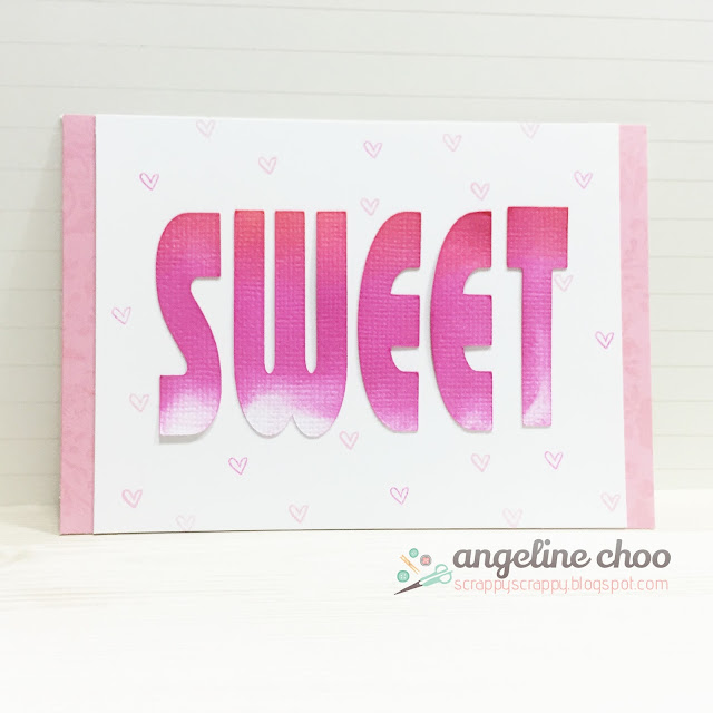 ScrappyScrappy: 3-in-1 Sweet Cards for Valentine #scrappyscrappy #thecuttingcafe #diecut #svg #cutfile #valentine #card #cardmaking #distress #thetonstamp #stamp #stamping #ombre #love #cratepaper
