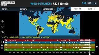 World Population History Interactive Map