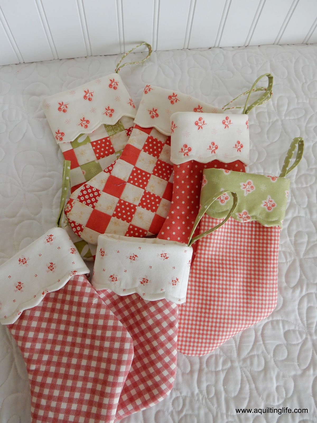 Quilted Christmas Stockings - A Quilting Life
